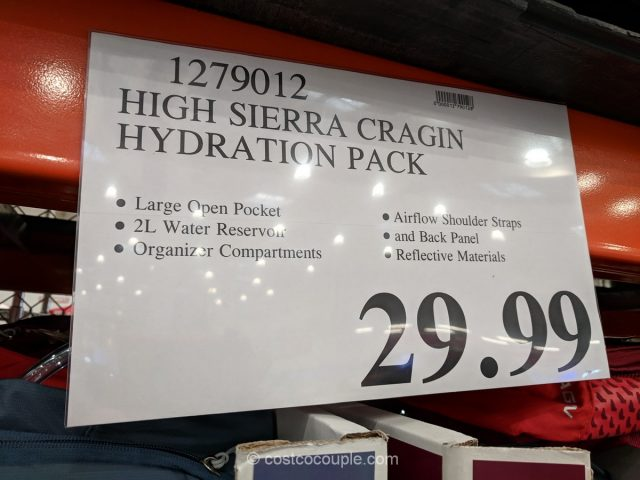 High Sierra Cragin Hydration Pack Costco