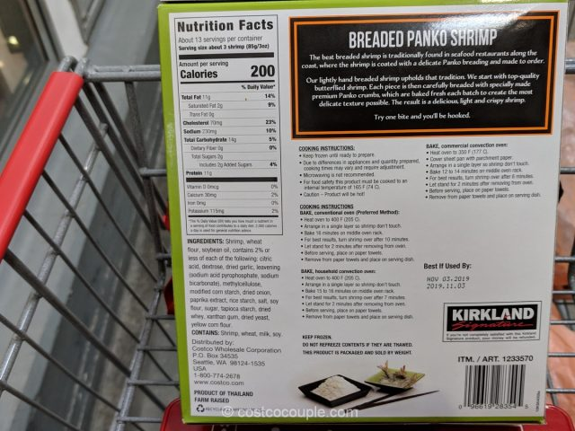 Kirkland Signature Panko Shrimp Costco