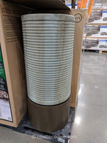 Modern Ribbed Outdoor Fountain Costco