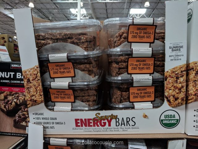 Organic Sunrise Energy Bars Costco