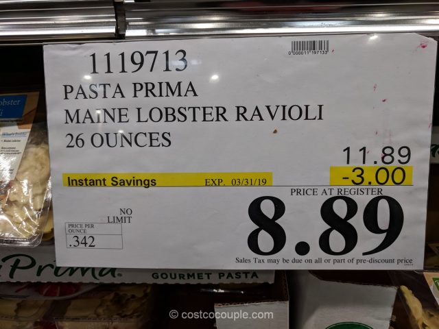 Pasta Prima Maine Lobster Ravioli Costco