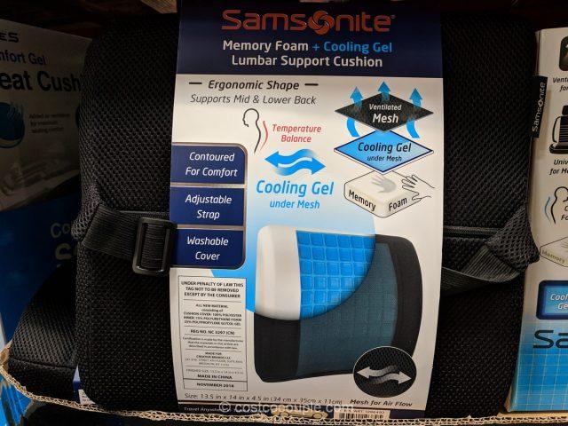 Samsonite Cool Gel Lumbar Cushion Costco