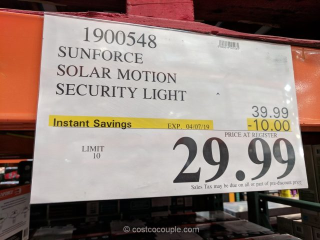SunForce Solar Motion Security Light Costco