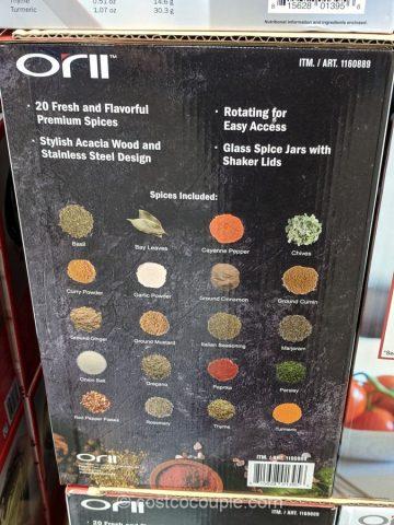 20 Jar Spice Rack Costco