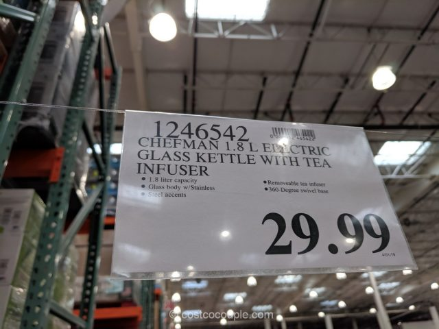Chefman Electric Glass Kettle Costco