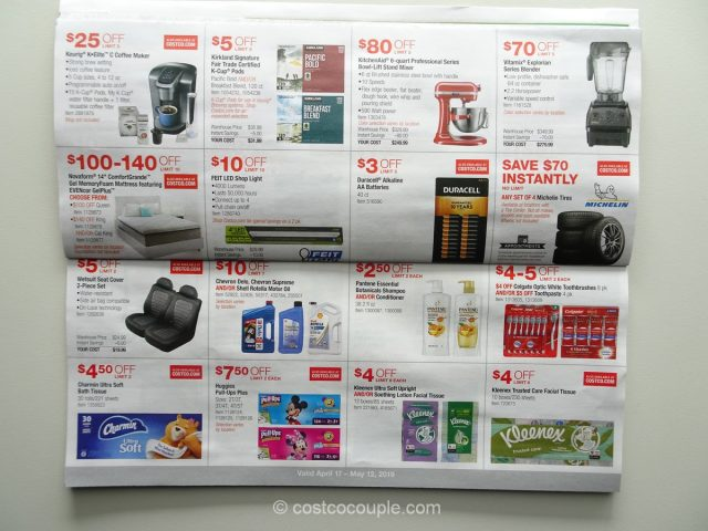 Costco April 2019 Coupon Book 04/17/19 to 05/12/19