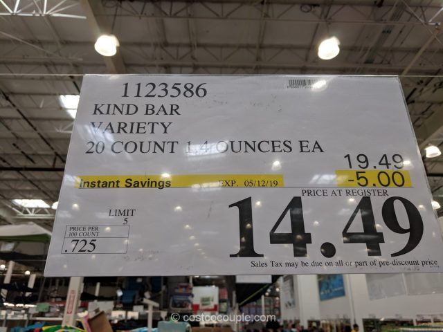 Kind Bar Variety Pack Costco