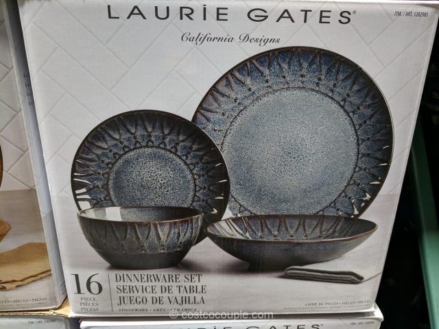 Laurie Gates Stoneware Dinnerware Set Costco