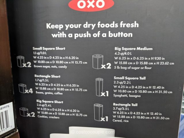 Oxo 12-Piece Pop Container Set Costco
