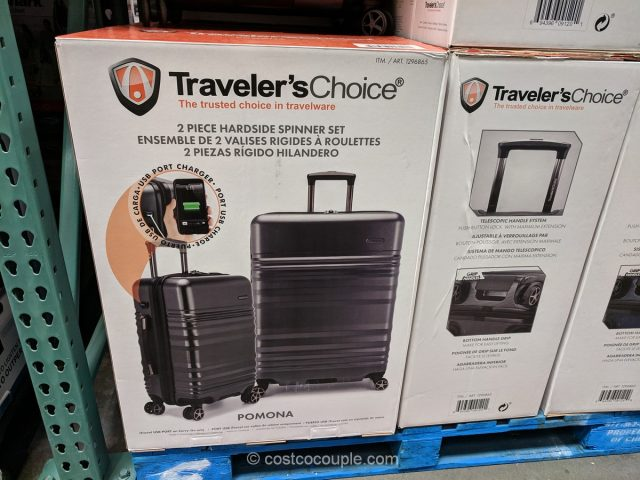 Traveler's Choice Pomona 2-Piece Hardside Set Costco