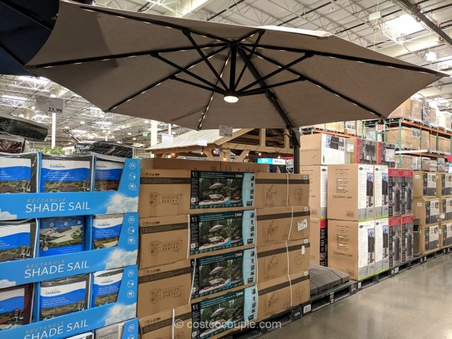 11-Foot Solar LED Cantilever Umbrella Costco