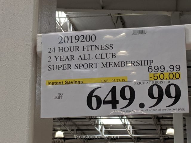 24-Hour Fitness 2-Year All-Club Super Sport Membership Costco