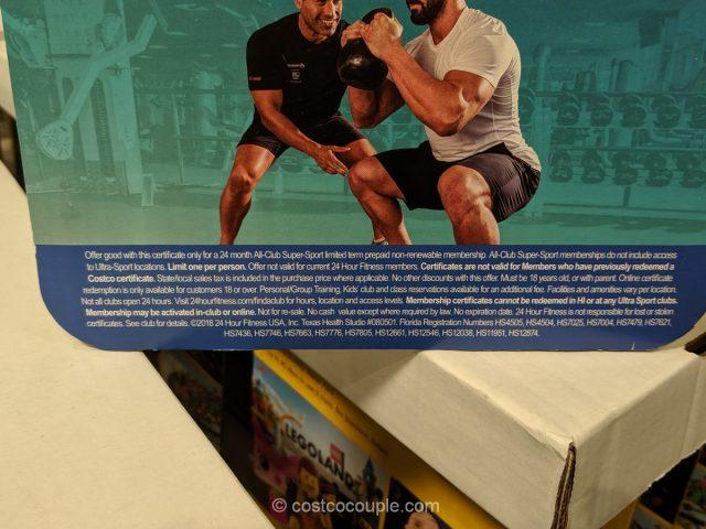 24-Hour Fitness 2-Year All-Club Super Sport Membership Costco