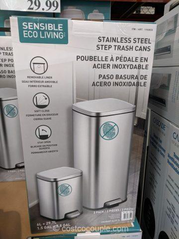 Eko Stainless Steel Step Trash Cans Costco