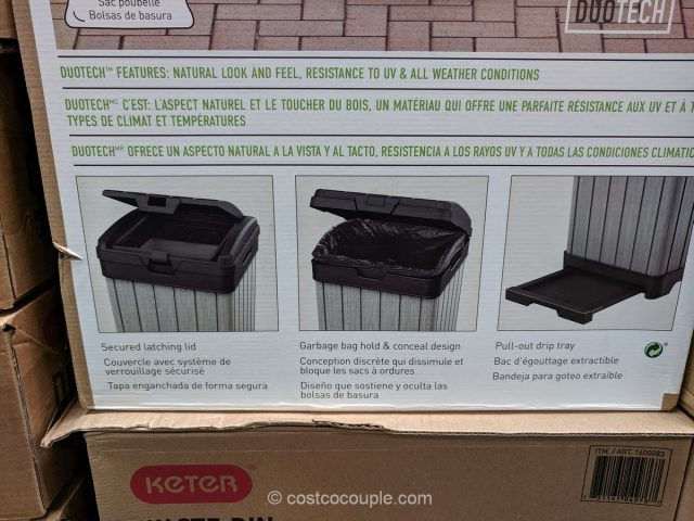 Keter 33 Gallon Outdoor Waste Bin