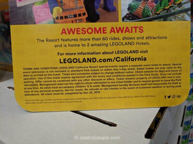 Legoland California 3-Day Hopper Ticket Costco