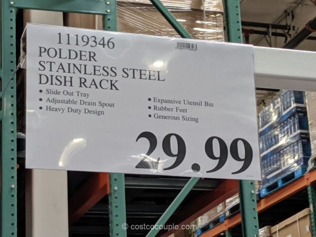 Polder Stainless Steel Dish Rack Costco