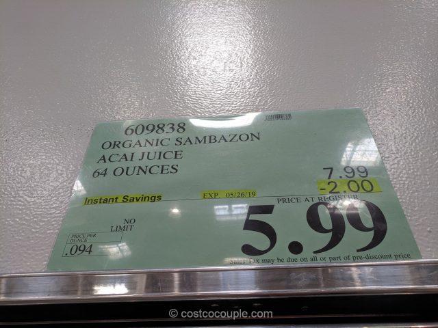 Sambazon Organic Acai Juice Costco