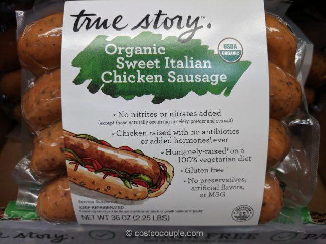 True Story Organic Sweet Italian Chicken Sausage Costco