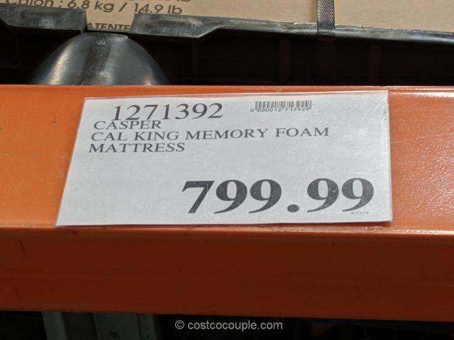 Casper Cal King Memory Foam Mattress Costco