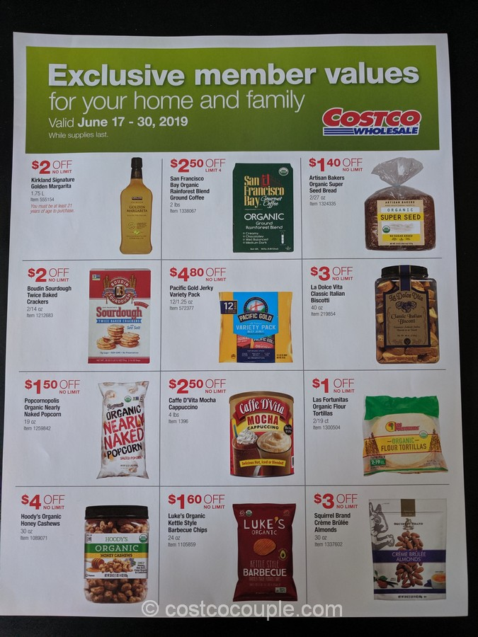 Costco Exclusive Member Values June 2019 (Greater Bay Area Only)