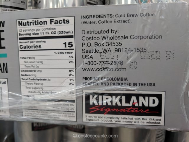 Kirkland Signature Cold Brew Coffee Costco