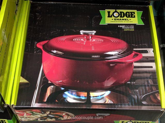Lodge 6 Qt Porcelain Enamel Cast Iron Dutch Oven