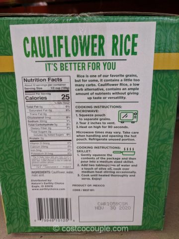 Nature's Earthly Choice Cauliflower Rice Costco