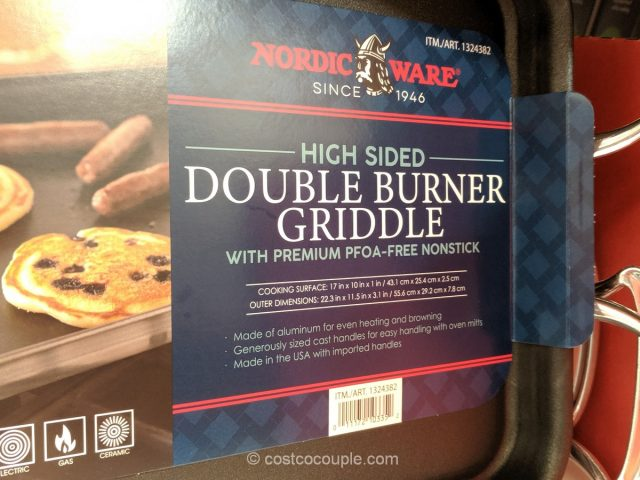 Nordic Ware High Sided Double Burner Griddle