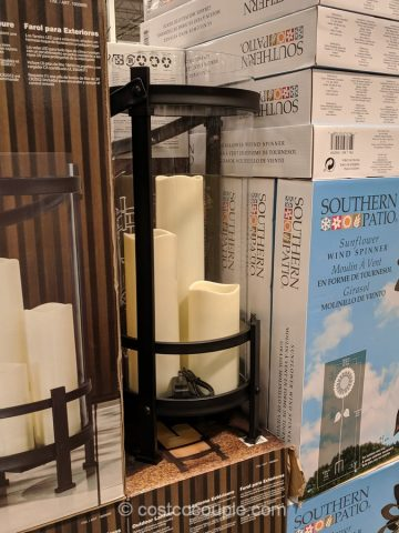 Outdoor Lantern with LED Candles Costco