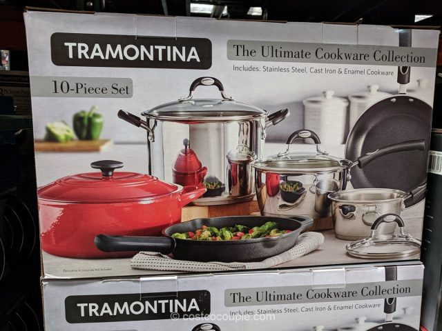 Tramontina 10-Piece Ultimate Cookware Set Costco