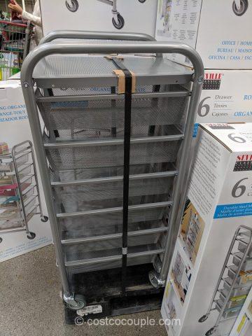 6-Drawer Mesh Organizer Cart Costco