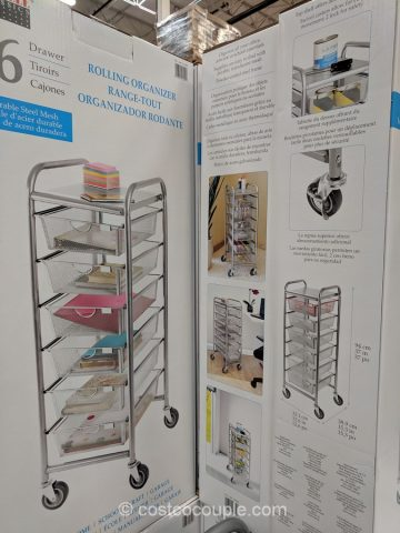 6 Drawer Mesh Organizer Cart
