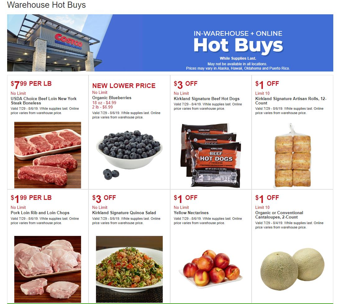 Costco Warehouse Hot Buys