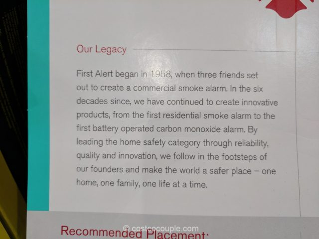 First Alert 10 Year Smoke and Carbon Monoxide Alarm Costco