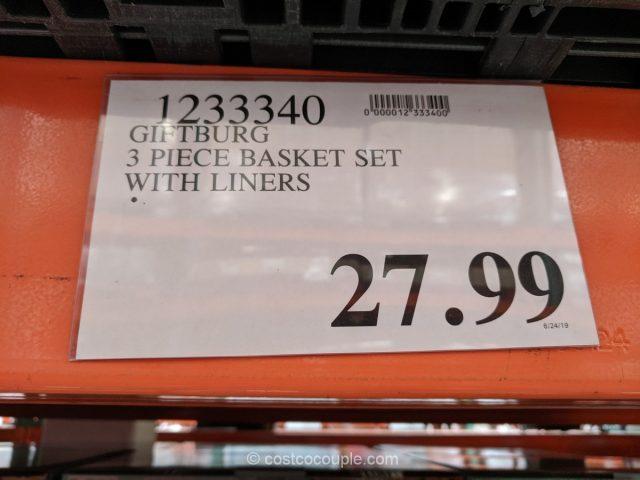 Giftburg 3-Piece Basket Set Costco