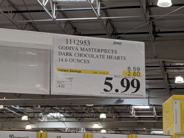 Godiva Masterpieces Dark Chocolate Hearts Costco