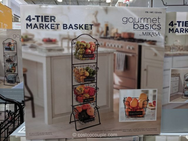Gourmet Basics By Mikasa 4 Tier Market Basket