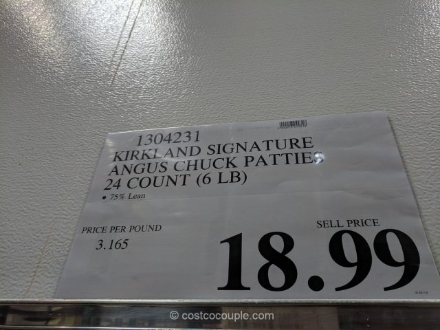 Kirkland Signature Angus Chuck Beef Patties Costco