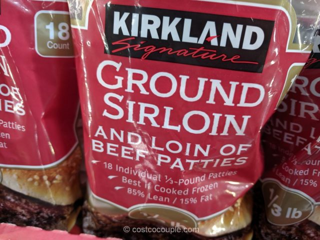 Kirkland Signature Sirloin Beef Patties Costco