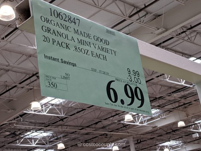 Made Good Organic Granola Variety Pack Costco