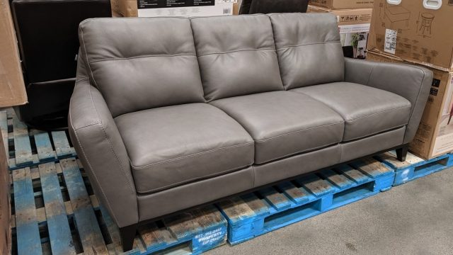 Natuzzi Group Mills Leather Sofa