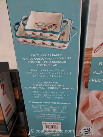 Over and Back 2-Piece Floral Bakeware Set Costco