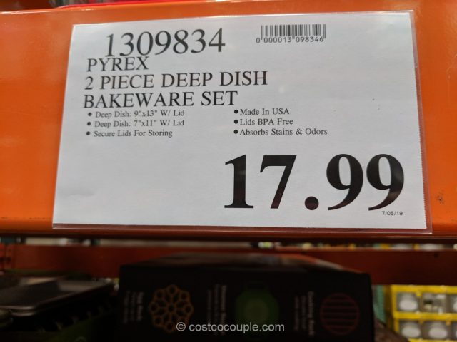 Pyrex Deep Dish Bakeware Set Costco