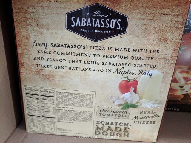 Sabatassos Pizza Singles Costco