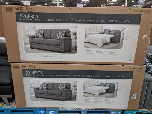 Synergy Home Brycer Fabric Sleeper Sofa Costco