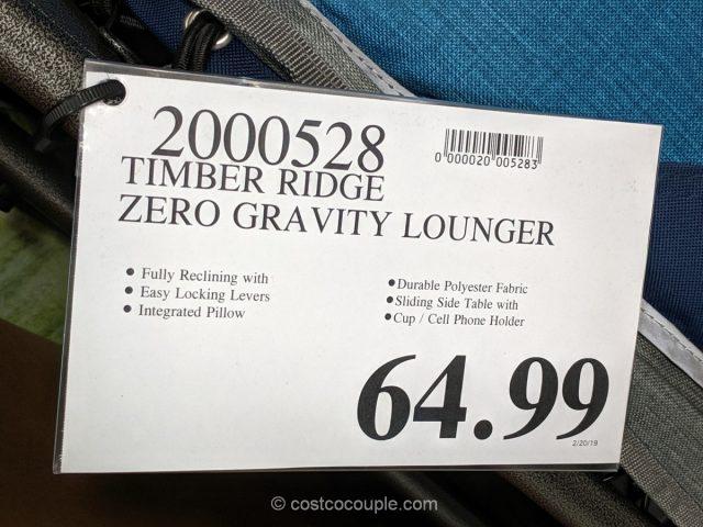 Timber Ridge Zero Gravity Lounger Costco