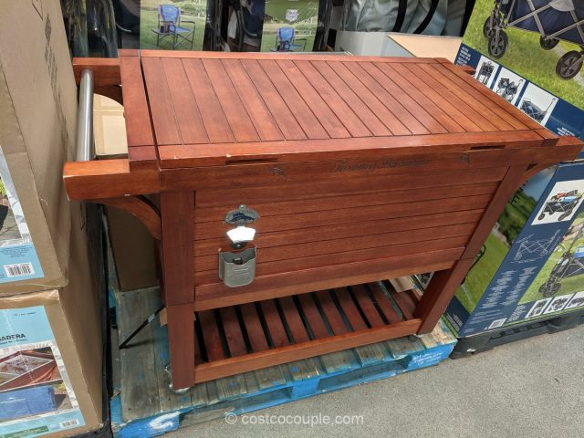 Tommy Bahama Rolling Wood Cooler