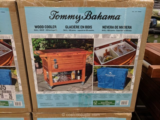 Tommy Bahama Rolling Wood Cooler Costco