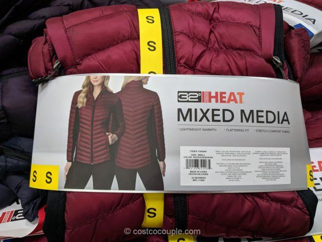 32 Degrees Ladies' Mixed Media Jacket Costco